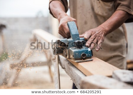Close-up of carpenter at work stock photo © williv