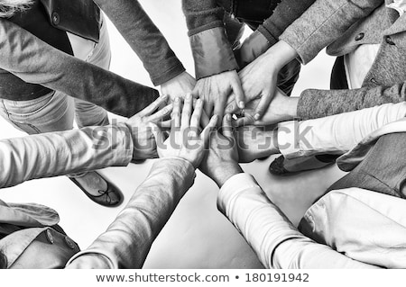 Woman with hands clasped Stock photo © photography33