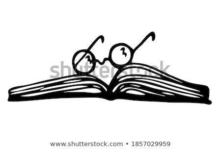 Book with glasses Stock photo © stevanovicigor
