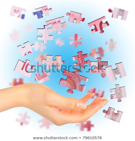 Banknote euro is divided into puzzles Stock photo © vlad_star