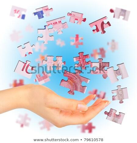 euro · quebra-cabeça · brinquedo · amostra · cem - foto stock © vlad_star
