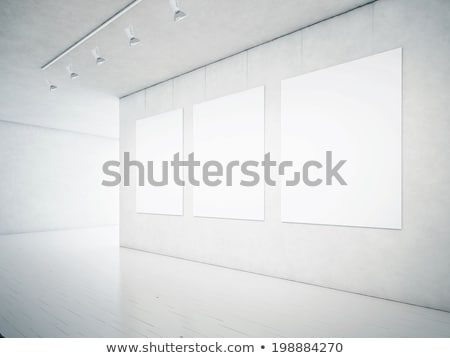 empty hall gallery interior space with frames and furniture stock photo © victoria_andreas