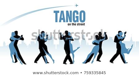 Coppie dancing tango dance corpo divertimento Foto d'archivio © leonido