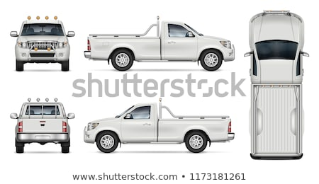 Pick-up truck isolated on white 4 stock photo © lkeskinen