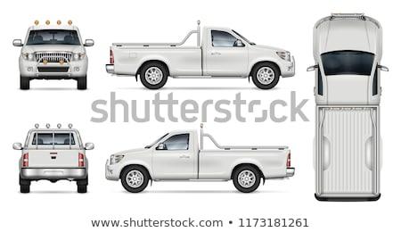 Foto stock: Camión · aislado · blanco · coche · movimiento · mover