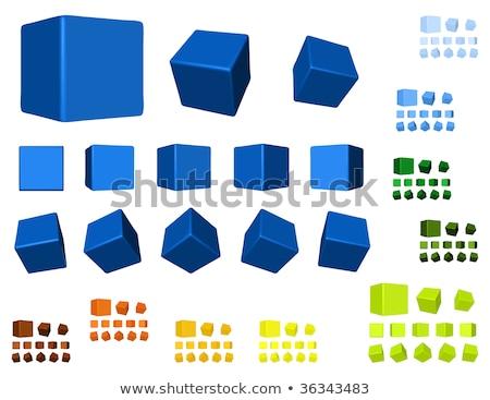 куб три изменение белый здании строительство Сток-фото © m_pavlov