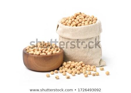 bonen · roestvrij · staal · geïsoleerd · witte · voedsel - stockfoto © ziprashantzi