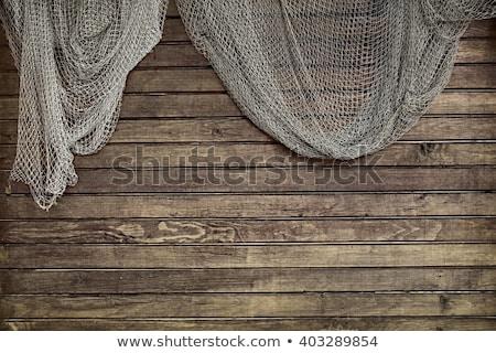 rusztikus · kötél · hal · net · nagy · köteg - stock fotó © Kenneth_Keifer