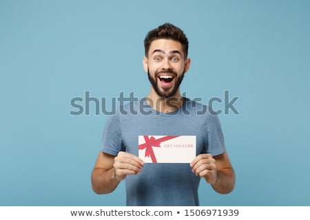 Boy with Holiday Gift Stock photo © lisafx