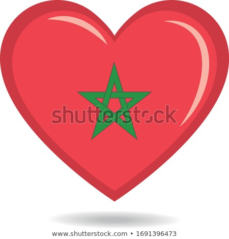 Image of heart with flag of Morocco Stock photo © perysty