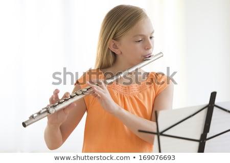 флейта студент молодые обучения играть Сток-фото © lisafx