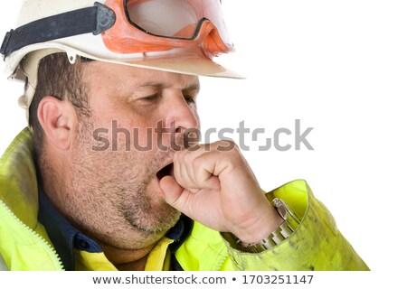 Construção homem negócio azul trabalhador Foto stock © photography33