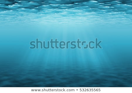 Underwater Scene with sun rays abstract with water and sun rays stock photo © ozaiachin