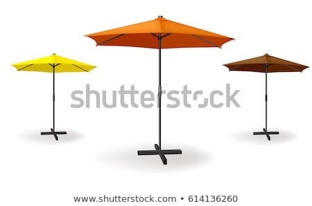 Stock photo: Three Different Colored Vector Awnings