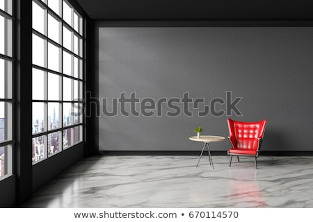 office leather red chair Stock photo © goce