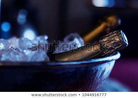 シャンパン · ボトル · 首 · クローズアップ · 孤立した · 白 - ストックフォト © karandaev