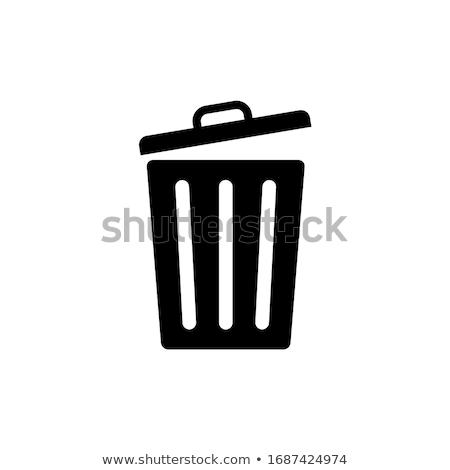 пусто мусорное ведро 3D оказанный белый тень Сток-фото © garyfox45116