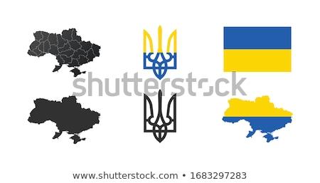 Ukrainian flag in the texture isolated Stock photo © OleksandrO