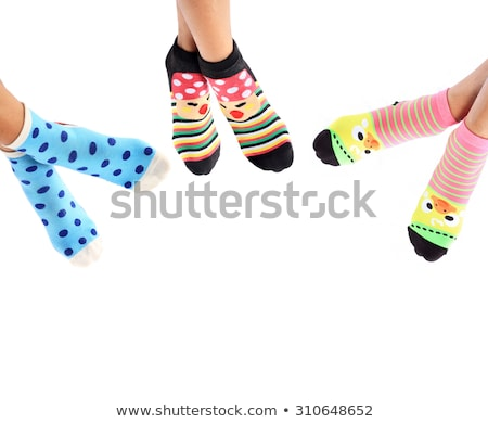 legs long female in striped socks isolated on white background Stock photo © alexandkz