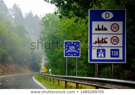 eu flagged road sign on blue sky background stock photo © experimental