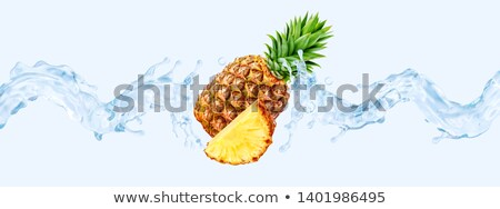 ananas · isolé · blanche · alimentaire · fond · vert - photo stock © givaga