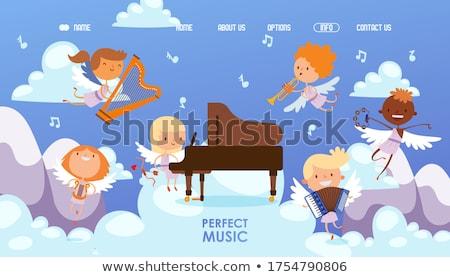 Zongora hárfa égbolt terv művészet csoport Stock fotó © mariephoto