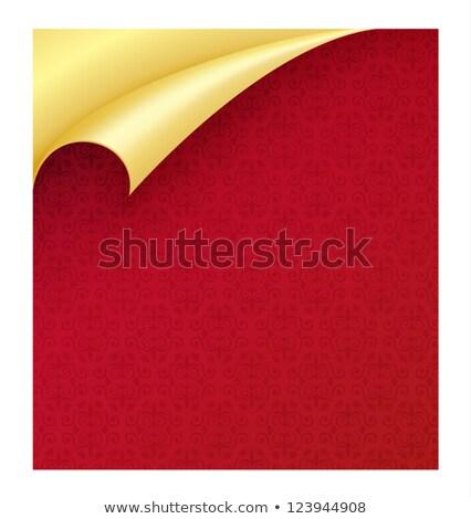 красный бумаги Vintage текстуры углу Сток-фото © liliwhite