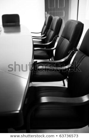 Sali konferencyjnej współczesny czarny biały działalności drewna Zdjęcia stock © SophieJames