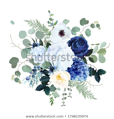 Vintage fundo escuro azul flor vetor Foto stock © 0mela