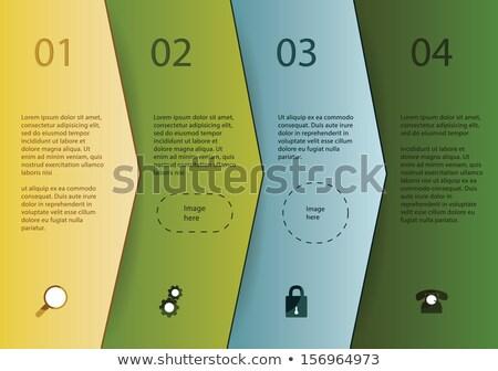 Négy megoldások lehetőségek űr tartalom lépcső Stock fotó © vitek38