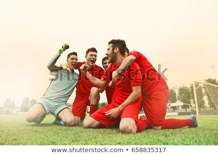 Erkek adam mutlu arka plan başarı kazanmak Stok fotoğraf © paolopagani