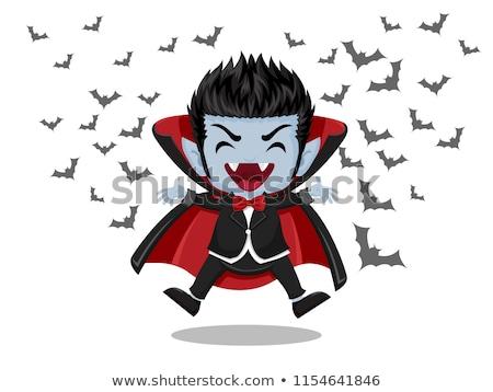 komische · cartoon · vampier · man · retro - stockfoto © izakowski