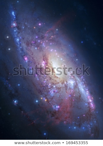 M106 spiral galaxy in constellation Canes Venatici Stock photo © rwittich