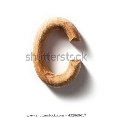 wooden alphabet - letter C on white background Stock photo © ozaiachin