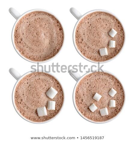blanche · guimauve · verre · banque · table · alimentaire - photo stock © winterling