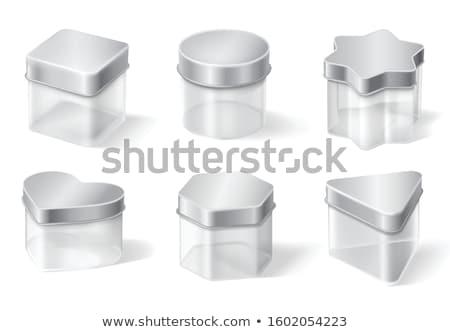 Sugar Jar with Clear Lid Stock photo © shutswis