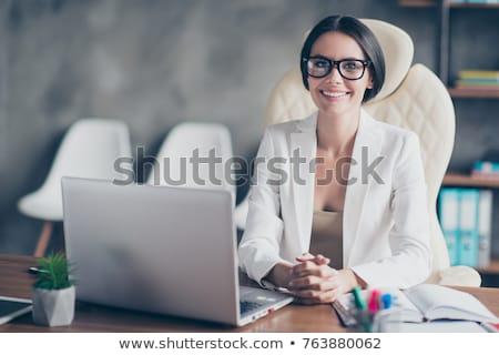 Jovem banqueiro computador escritório café trabalhar Foto stock © photography33