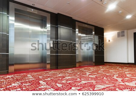 Closed elevator with red carpet Stock photo © creisinger