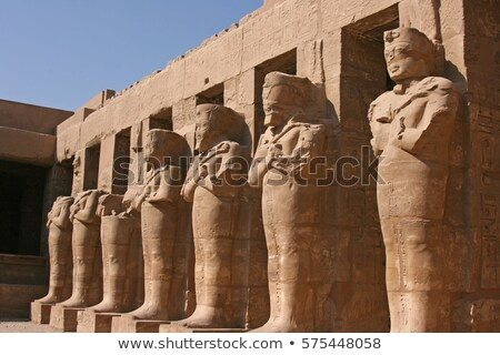 Pharaoh Statue in Burial Chamber Stock photo © AlienCat