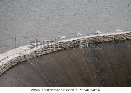Dike made from sandbags Stock photo © michaklootwijk