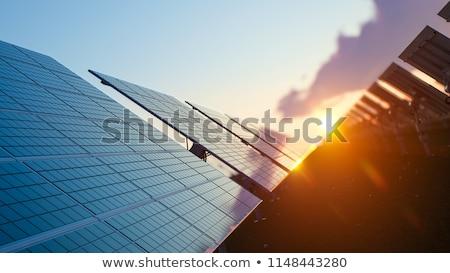 Nap napelem karakter ikon zöld megújuló Stock fotó © Lightsource
