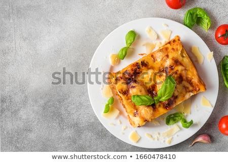 Lasanha prato comida macarrão fechar Foto stock © mtkang