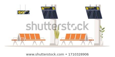 транзит аэропорту лобби пусто скамейке наблюдение Сток-фото © mtkang