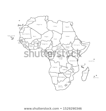 Africa map and Togo Stock photo © Ustofre9