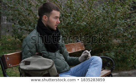 Adult Bum Smoking a Spliff Stock photo © eldadcarin