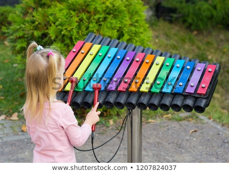 Playing xylophone Stock photo © zzve