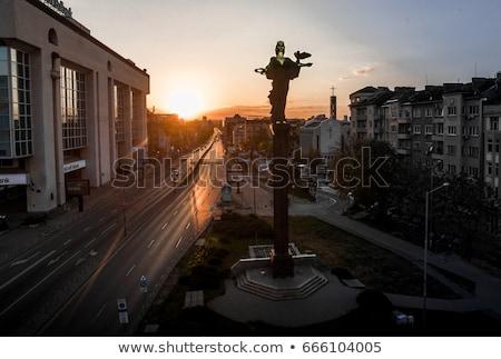 Utca Szófia Bulgária utcakép égbolt ház Stock fotó © dinozzaver