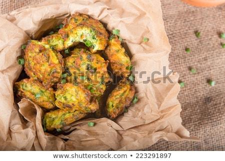 Lezzetli tuzlu krep ıspanak kurutulmuş domates Stok fotoğraf © doupix