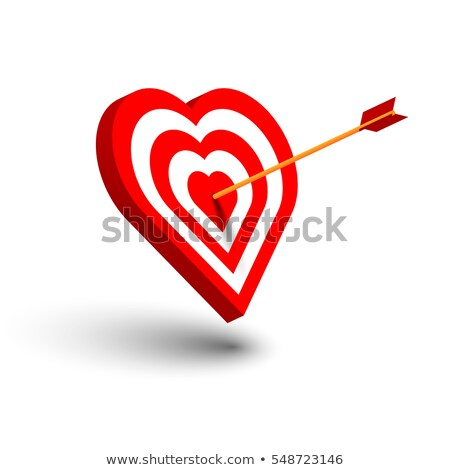 Colorful glossy heart shape with red center Stock photo © oneo