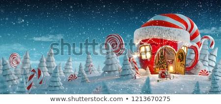 Natale fiaba giallo decorativo sfera buio Foto d'archivio © grechka333
